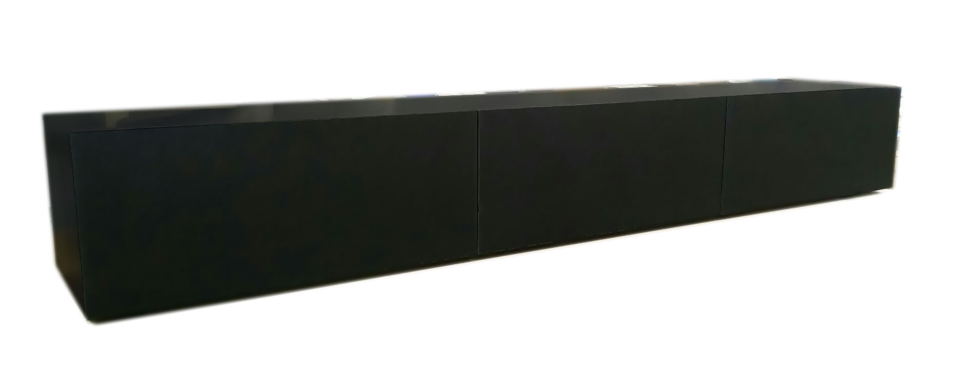 Adelaide Black Matte Lowline TV Entertainment Unit