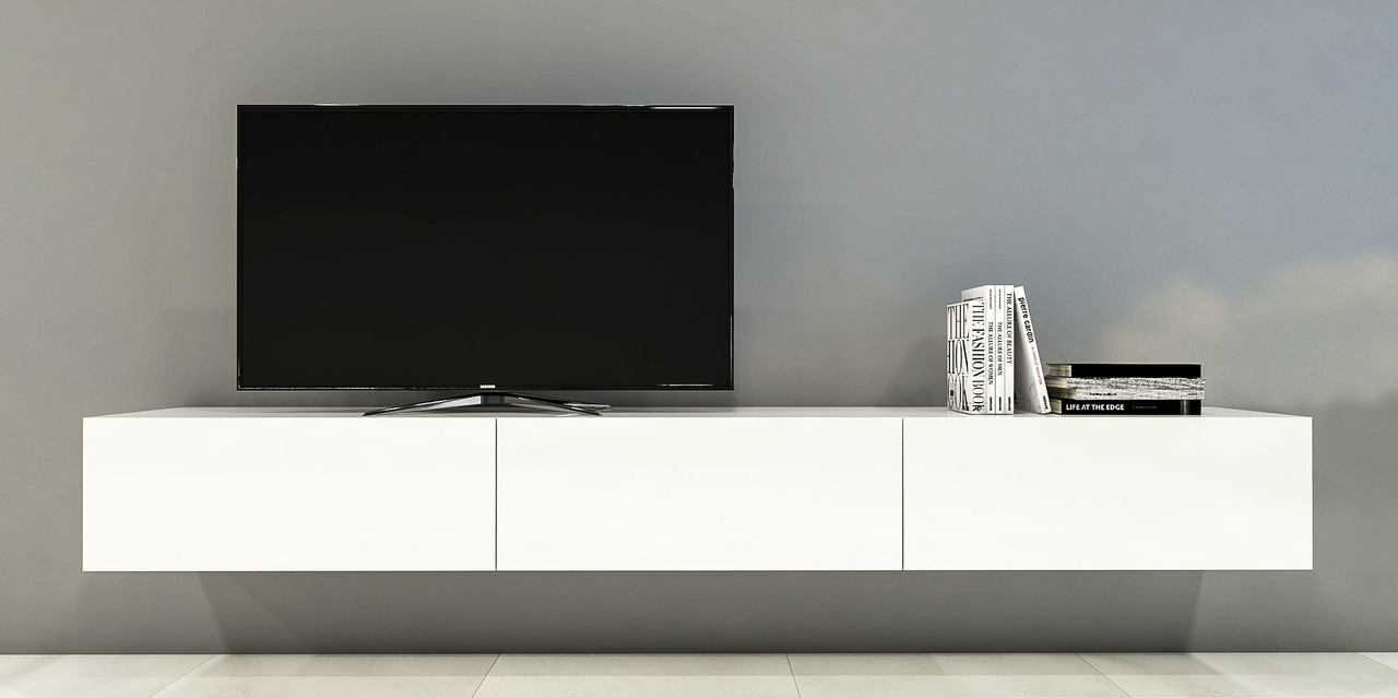 Adelaide White Floating Wall Tv Cabinet