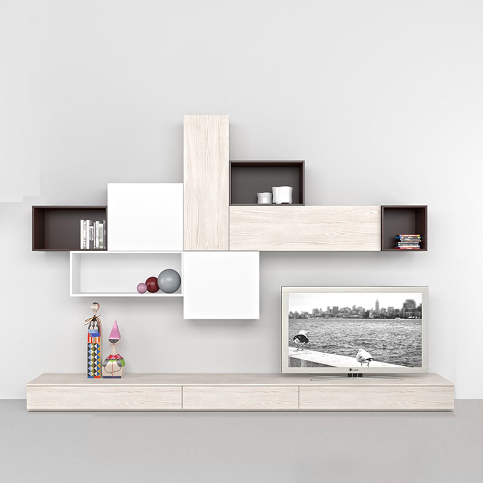 ... Italian Contemporary Furniture Coffee Tv Wall Mounted Unit  ...