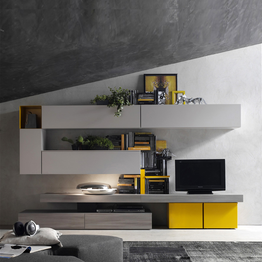 Inspiration gallery for Modern living room yellow