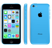 "apple iphone 5c blue 8mp camera 16gb rom 4"" screen ios 12 smartphone"