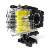 "sjcam sj5000 plus ambarella yellow a7ls75 1.54"" screen hd action sport camera"