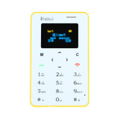 "inew mini 1 ultrathin card phone 0.96"" screen bar phone 320mah bluetooth yellow"