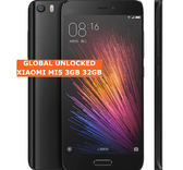 "xiaomi mi5 3gb ram 32gb rom quad core 5.15"" screen 4g lte black smartphone"