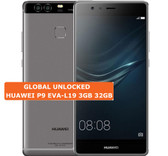 "huawei p9 eva-l19 3gb 32gb octa core 5.2"" screen android 6.0 4g grey smartphone"