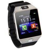 "5x dz09 mtk6260a 1.56"" touch screen bluetooth smart watch remote camera - silver"