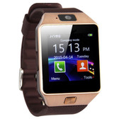 "10x dz09 mtk6260a 1.56"" touch screen bluetooth smart watch remote camera - gold"