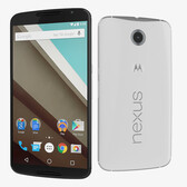 "motorola nexus 6 xt1103 32gb white 13mp 5.96"" smartphone + gif"