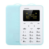 "aeku c6 card mobile phone blue 4.8mm ultra thin pocket slim 0.96"" qwertykey bt"