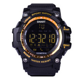 "aiwatch xwatch outdoor golden watch 1.12"" screen bt4.0 5atm waterproof smartwatch"