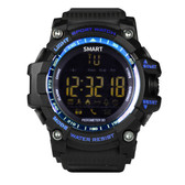 "aiwatch xwatch outdoor blue watch 1.12"" screen bt4.0 5atm waterproof smartwatch"
