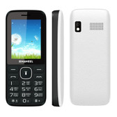 "haweel x1 mobile phone white 2.4"" 1500mah dual sim big speaker"
