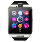 zomoea q18 plus silver support bluetooth sport pedometer android phone smartwatch