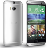 "htc one m8 at&t 2gb 32gb silver quad core 5.0"" screen android 4g lte smartphone"