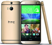 "htc one m8 at&t 2gb 32gb gold quad core 5.0"" hd screen android 4g lte smartphone"