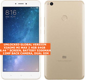 "xiaomi mi max 2 gold 4gb 64gb octa core 6.44"" screen android 7.1 4g smartphone"