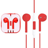 high quality earpods with wired control mic red iphone samsung htc smartphones