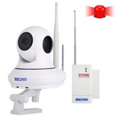 escam qf500 ir dome camera 720p 1.0mp pan tilt h.264 3.6mm wifi camera distance