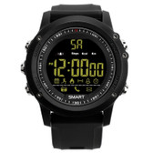 ex17 waterproof bluetooth black 50m pedometer data analysis camera smart watch