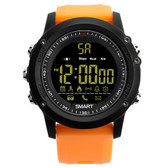 ex17 waterproof bluetooth 4.0 orange 50m pedometer data analysis camera smartwatch