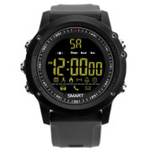 ex17 waterproof bluetooth 4.0 grey 50m pedometer data analysis camera smart watch