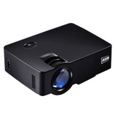 aun akey1 1800 lumens led black video projector home theater usb/sd/vga/av/hdmi