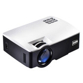 aun akey1 1800 lumens led white video projector home theater usb/sd/vga/av/hdmi