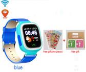 hold mi q90 gps phone blue english version sos children smartwatch baby q80 q50 q60