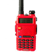 baofeng walkie talkie red radio transciver 128ch vhf&uhf handheld uv 5r hunting