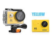"eken h9r yellow ultra 30m waterproof 2.0"" screen wifi 1080p hd 4k action camera"
