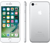 "apple iphone 7 silver 2gb 128gb quad core 4.7"" hd screen ios 4g lte smartphone"