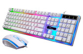 zgb g21 1600 dpi white wired colorfull backlight keyboard optical mouse laptop pc