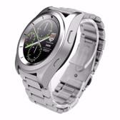 no.1 g6 silver metal heartrate monitor pedometer psg bracelet sport bluetooth smartwatch