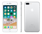 "apple iphone 7 plus silver 3gb 32gb quad core 5.5"" 12mp ios 12 4g lte smartphone"