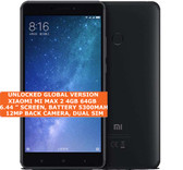 "xiaomi mi max 2 black 4gb 64gb octa core 6.44"" screen android 7.1 4g smartphone"