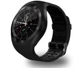 y1 bluetooth relogio black phone call sim tf camera waterproof android smart watch