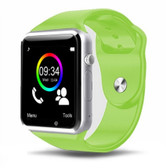 a1 bluetooth green smart clock camera phone android ios huawei wrist smartwatch