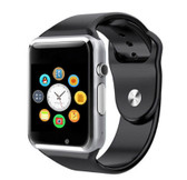 a1 bluetooth silver smart clock camera phone android ios huawei wrist smartwatch