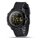 lemfo pedometer black waterproof alarm remind stop men women digital smart watch