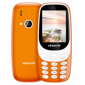 "vkworld z3310 orange dual sim fm russian keyboard bluetooth 2.4"" 3d screen mobile"