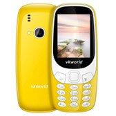 "vkworld z3310 yellow dual sim fm english keyboard bluetooth 2.4"" 3d screen mobile"