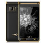 """tkexun g10 plus flip black dual sim 3.5"""" dual screen sos gsm camera mobile phone"""