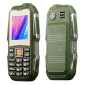 mini elder triple proofing green waterproof shockproof loud sound dust proof mobile