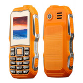 mini elder triple proofing orange waterproof shockproof loud sound dust proof mobile