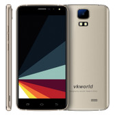 "vkworld s3 8gb gold 5.5"" 2.5d auo android 7.0 mtk6580a quad core fm gps dual sim"