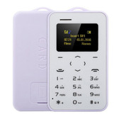 "aeku c6 card mobile phone purple 4.8mm ultra thin pocket slim 0.96"" qwertykey bt"