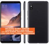 "xiaomi mi max 3 4gb 64gb black octa core 6.9"" 12mp dual sim miui smartphone"
