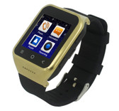 s8 plus mtk6580 gold bluetooth gps wifi waterproof sim card android os 3g watch