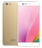"sharp z3 fs8009 4gb 64gb gold 16mp fingerprint octa core 5.7"" android smartphone"