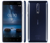 "nokia 8 6gb 128gb blue octa core fingerprint 13.0mp 5.3"" android lte smartphone"